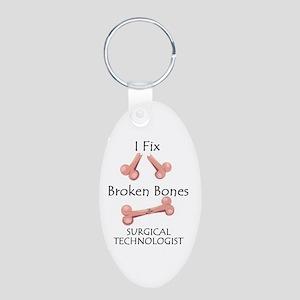 Broken Bones ST Aluminum Oval Keychain