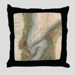Vintage Martha's Vineyard Holmes Hole Throw Pillow