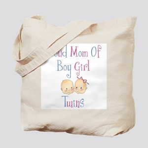 Proud Mom of Boy Girl Twins Tote Bag