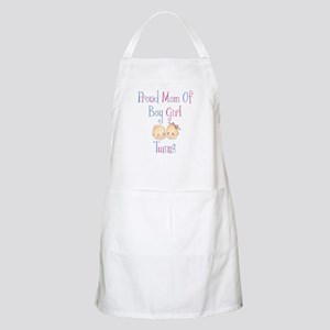 Proud Mom of Boy Girl Twins BBQ Apron