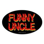 Funny Uncle Oval Sticker