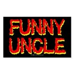 Funny Uncle Rectangle Sticker
