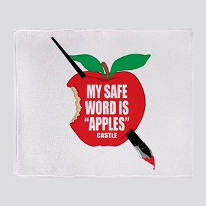 Castle: Apples Throw Blanket