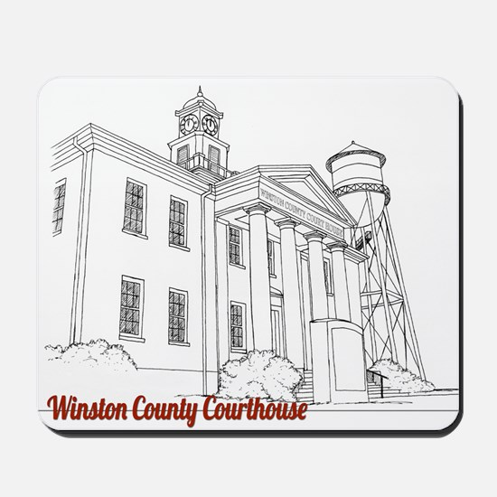 Winston County Alabama Courthouse Mousepad