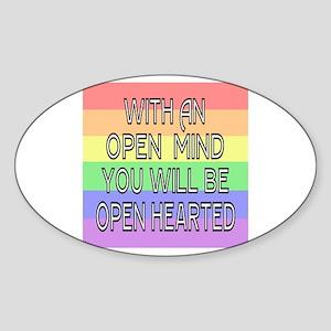 Open Mind Open Hearted Sticker (Oval)