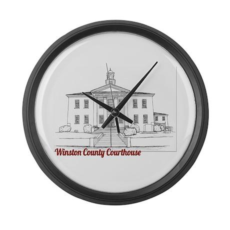 Winston County Alabama Courthouse Large Wall Clock