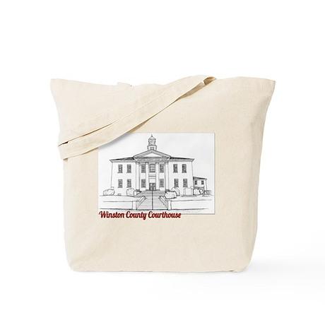 Winston County Alabama Courthouse Tote Bag