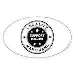 Legal Marijuana Support HR2306 Sticker (Oval 10 pk