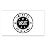 Legal Marijuana Support HR2306 Sticker (Rectangle