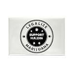 Legal Marijuana Support HR2306 Rectangle Magnet (1