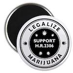Legal Marijuana Support HR2306 Magnet