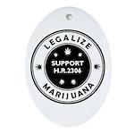 Legal Marijuana Support HR2306 Ornament (Oval)