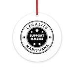 Legal Marijuana Support HR2306 Ornament (Round)