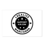 Legal Marijuana Support HR2306 Postcards (Package