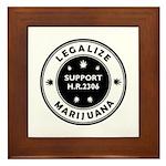 Legal Marijuana Support HR2306 Framed Tile