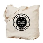 Legal Marijuana Support HR2306 Tote Bag