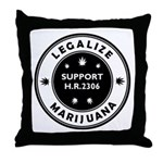 Legal Marijuana Support HR2306 Throw Pillow