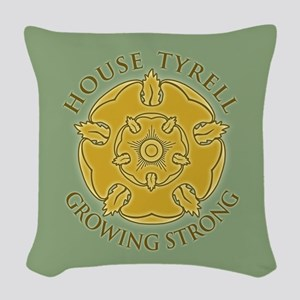 GOT Tyrell Rose Woven Throw Pillow