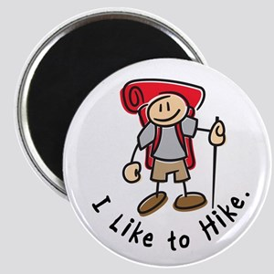 I Like To Hike (Red) Magnet