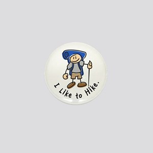 I Like To Hike (Blue) Mini Button