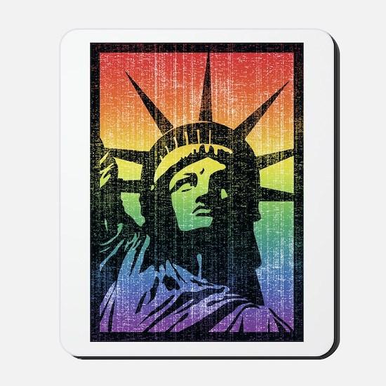 Rainbow Liberty 'Vintage' Mousepad