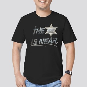 """""""The Sheriff is near"""" Men's Fitted T-Shirt (dark)"""