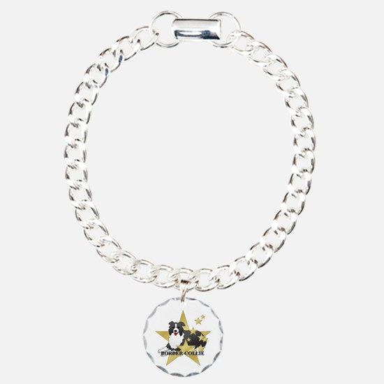 Border Collie Stars Bracelet