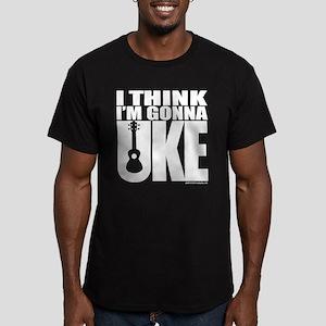 I think I'm gonna UKE Men's Fitted T-Shirt (dark)
