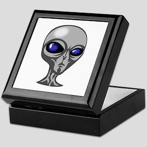 Grey Alien Head Keepsake Box