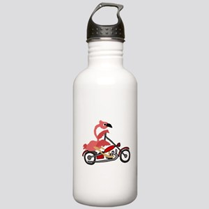 Flamingo Riding Motorc Stainless Water Bottle 1.0L