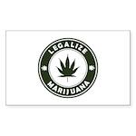 Legalize Marijuana Sticker (Rectangle 50 pk)
