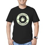 Legalize Marijuana Men's Fitted T-Shirt (dark)