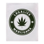Legalize Marijuana Throw Blanket