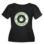 Legalize Marijuana Women's Plus Size Scoop Neck Da