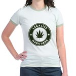 Legalize Marijuana Jr. Ringer T-Shirt