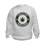 Legalize Marijuana Kids Sweatshirt