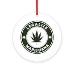 Legalize Marijuana Ornament (Round)