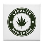 Legalize Marijuana Tile Coaster