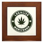 Legalize Marijuana Framed Tile