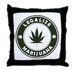 Legalize Marijuana Throw Pillow