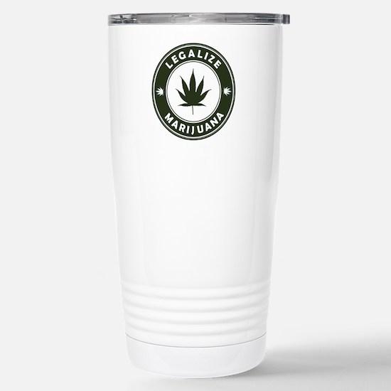 Legalize Marijuana Stainless Steel Travel Mug