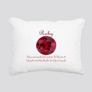 Ruby Meaning Rectangular Canvas Pillow