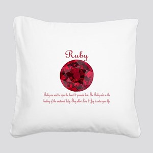 Ruby Meaning Square Canvas Pillow