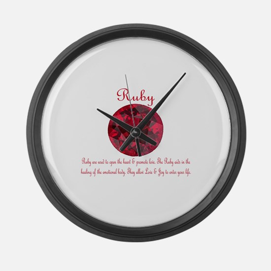 Ruby Meaning.jpg Large Wall Clock