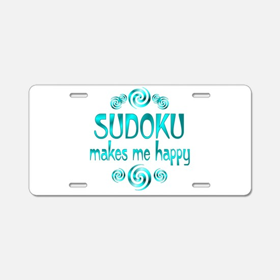 Sudoku Aluminum License Plate