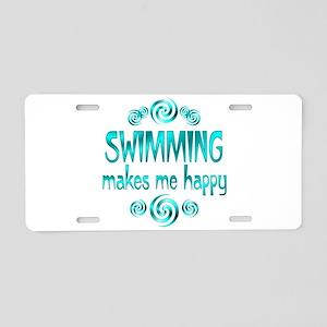Swimming Aluminum License Plate
