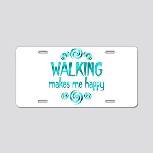 Walking Aluminum License Plate