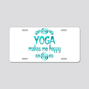 Yoga Happiness Aluminum License Plate