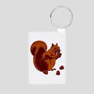 Squirrel Aluminum Photo Keychain