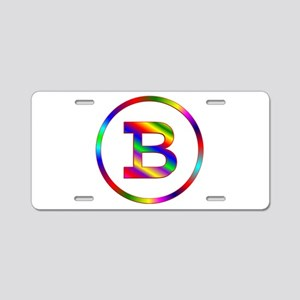 Letter B Aluminum License Plate